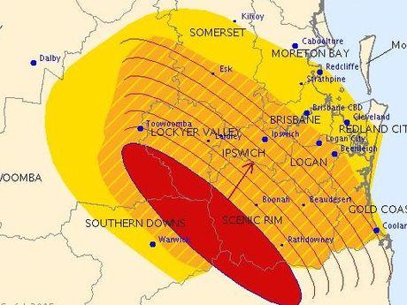 BOM storm warning.