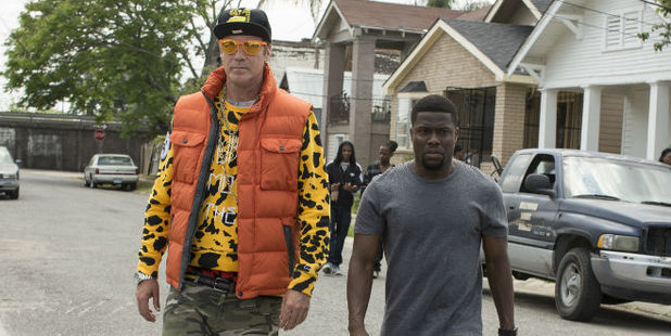 Will Ferrell and Kevin Hart in a scene from their new comedy Get Hard.