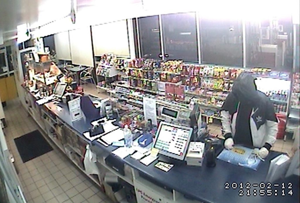 CCTV still from the Caltex Truckstop, Yaamba Road armed robbery. Supplied by Queensland Police Service.