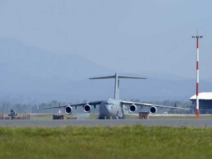 A C-17 at RAAF base Amberley.