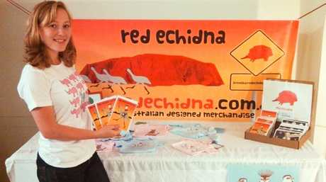 Red Echidna business creator Brenda Courtice feels alive when she shares her creativity.