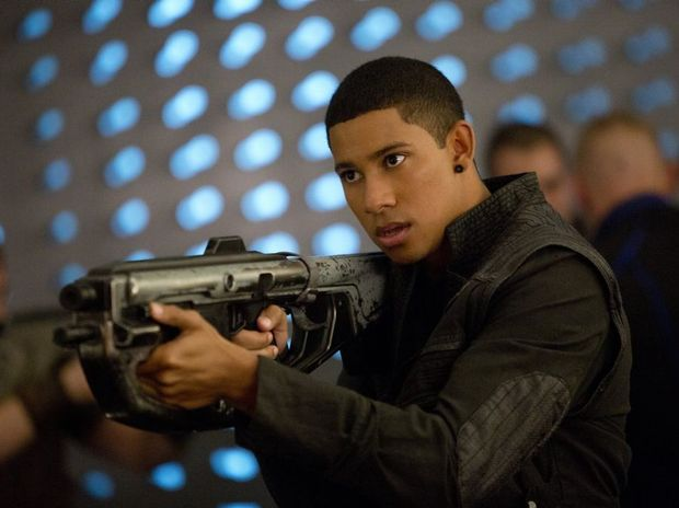 Australian actor Keiynan Lonsdale in a scene from the movie Insurgent.