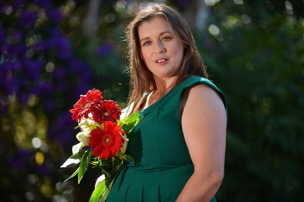 Chelcy Goulter has found out she s expecting triplets. Naturally conceived. Already has 2 daughters aged 20 and 9. Had just relaunched/rebranded her cleaning business. Had just split from her partner. Big challenges in front of her but still considers herself blessed with this pregnancy. Photo: Warren Lynam / Sunshine Coast Daily