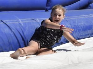 Waterslide fun at Show