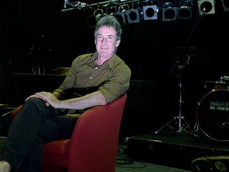 POWER OF SONGS : Rob Hirst, who was Midnight Oil's drummer, giving a workshop to Southern Cross University music students on songwriting.