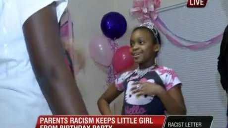 Harmony dances at her birthday party