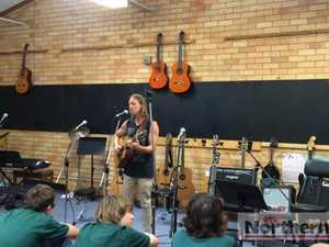 Musician Nick Kingswell at Kadina
