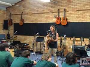 Musician Nick Kingswell at Kadina