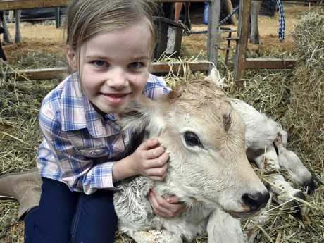 Mia Phillips, 7-years-old with the latest Showgirl.