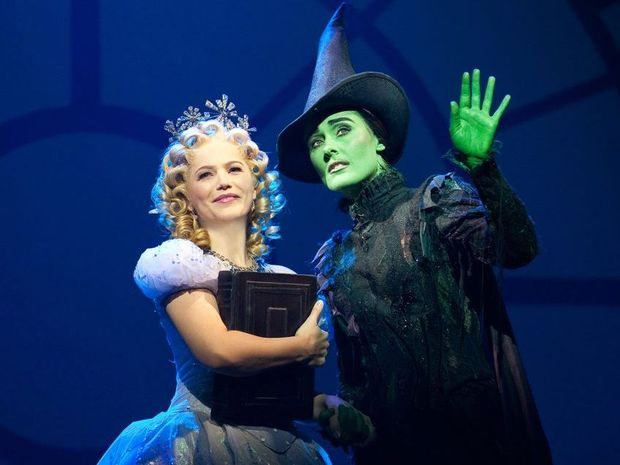 Suzie Mathers and Jemma Rix in a scene from Wicked The Musical. Please credit photo to Juho Sim.