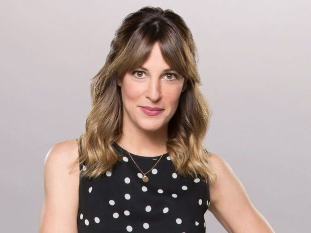 Funny woman: Lindsay Sloane stars in the TV series The Odd Couple.