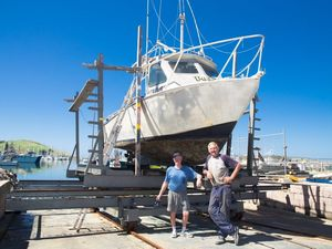 Fishermen all smiles with slipway up and running again