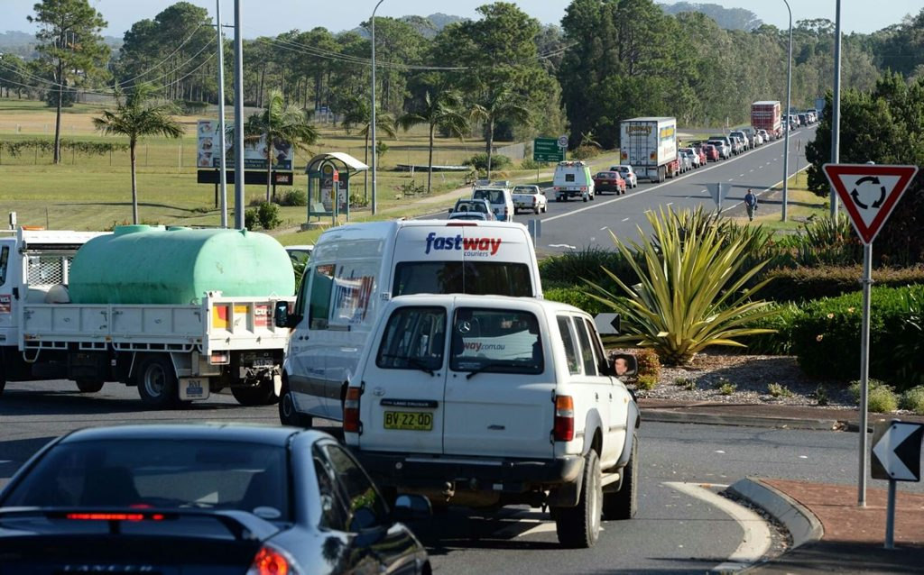 The truck rollover that saw the Pacific Hwy closed for almost four hours led to traffic delays on major arterial roads between Coffs Harbour and Sawtell.