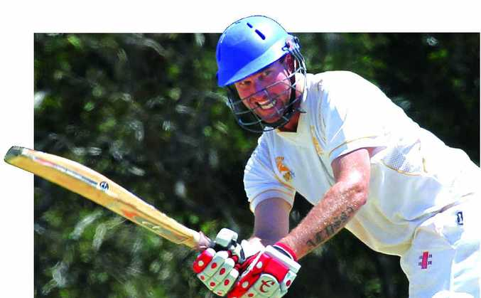 RUNS ON THE BOARD: Steven Brady shapes as a key to Gympie's batting plans in the premiership decider against Caboolture this weekend.