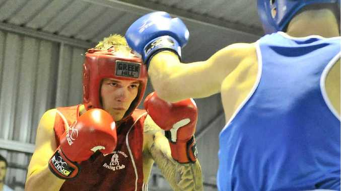 PULLING NO PUNCHES: Rhys Evans (red) is ready to chase a spot on the Queensland boxing team for the Australian titles when the qualifiers begin on March 27.