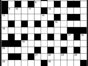 Sorry, our cryptic crossword was a bit too cryptic
