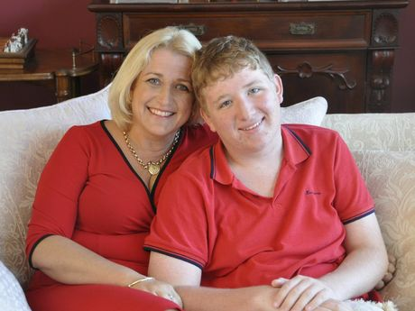 Rhonda Miles with her son Lachlan.