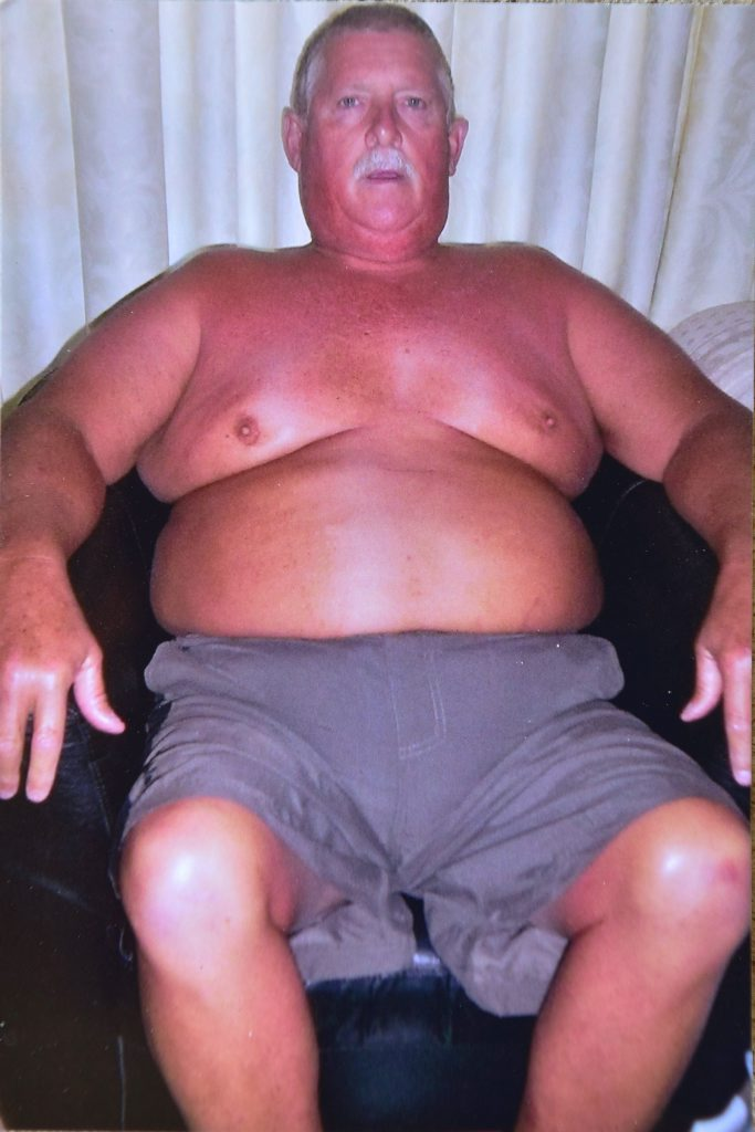 Peter before he lost 74kg