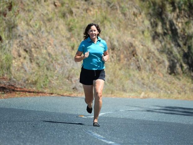 Sharon Kearney is organising Mountain Challenge which encourages runners and cyclists to tackle the 5km ascent of Mount Archer up Pilbeam Drive in August. Photo: Chris Ison / The Morning Bulletin