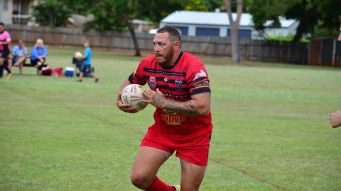 Wests Panther Terry Franks during their Bundaberg Rugby League first grade match against Waves Tigers at Childers Showground. Photo taken March 21, 2015. Photo Matthew McInerney / NewsMail