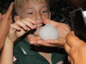 VIDEO: Huge hail stones smash Chinchilla's Bulldog Park