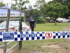 Police at a Pacific Haven property after June Wallis was found dead early on Sunday morning.