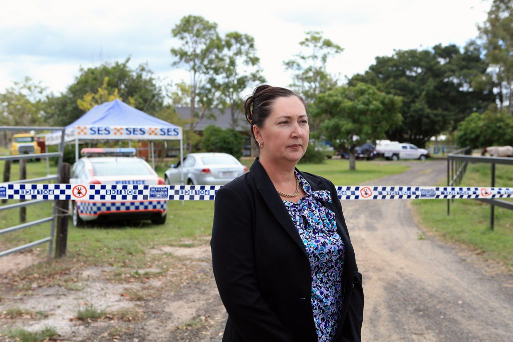 Detective Inspector Nikki Colfs speaks about finding a dead woman at a Pacific Haven property on Sunday morning.