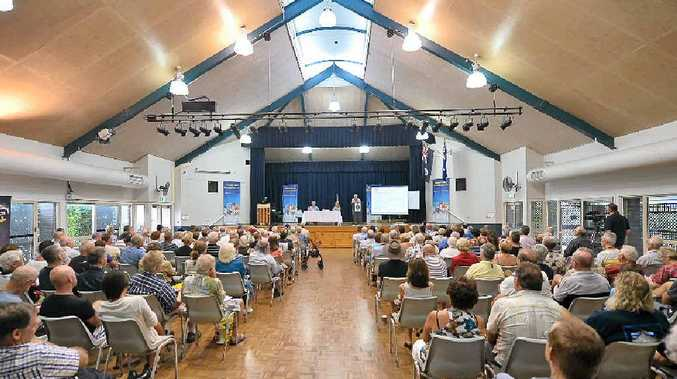 CONCERNS: About 200 people attended a forum at the Kawana Community Hall on Sharia law and political Islam.