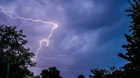 Lightning over Casino, March 21, 2015.