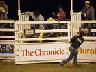 Mathew Pfingst on Show Stopper. PBR Bullride at Dalby Showgrounds. Saturday, Mar 21 , 2015 . Photo Nev Madsen / The Chronicle