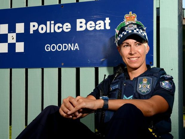 Senior Constable Lisa Hilllary from the Goodna Police Beat has won Rotary Police Officer of the Year award. Photo: Kate Czerny / The Queensland Times
