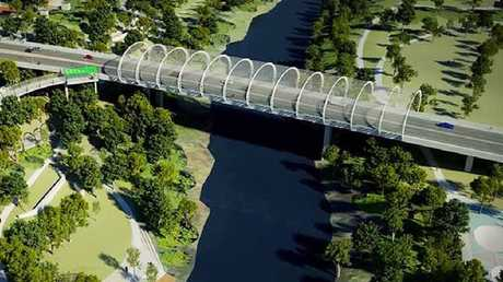 KEY INFRASTRUCTURE: An artist's impression of the proposed Norman St Bridge.
