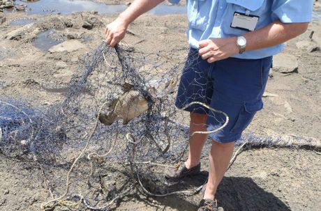 Queensland Boating and Fisheries Patrol found net in closed water areas of Fitzroy Barrage