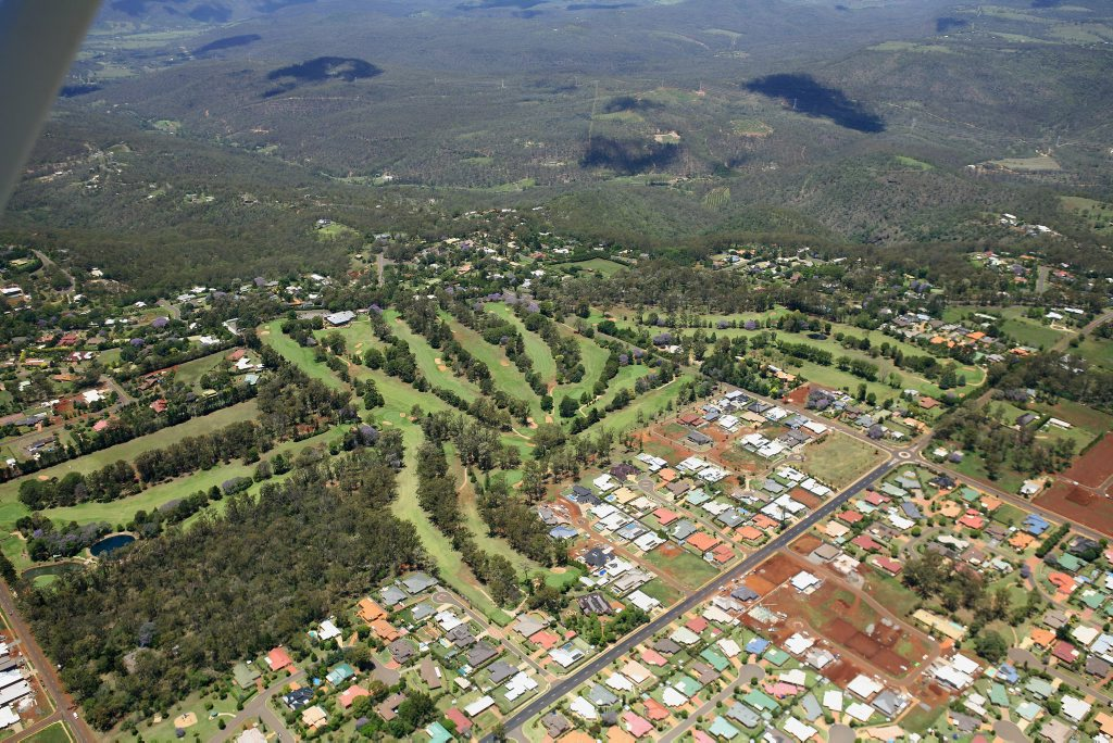 Toowoomba aerial 2008 - Middle Ridge The Chronicle Archive