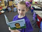 Cristal Crabtree organiser reads a book about epilepsy to her classmates.