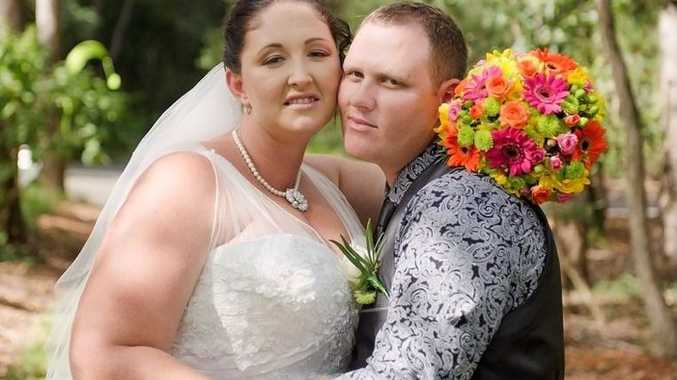 WEDDING BELLS: Shauna Gallagher and Glen Bryne were married in an intimate ceremony at Tondoon Botanic Gardens on March 14.