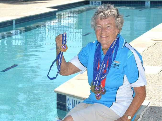 Though 89 years old, Margaret Cunningham broke six state records on the way to six individual gold medals in the Queensland Masters State Long Course Championships.