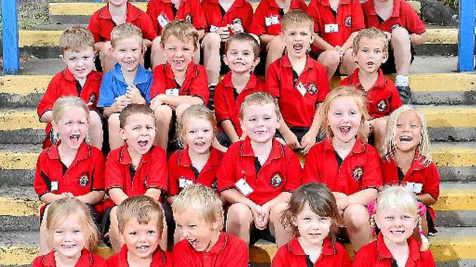 Prep students from Boyne Island State School are among those who will feature in The Observer's My First Year liftout on Wednesday.