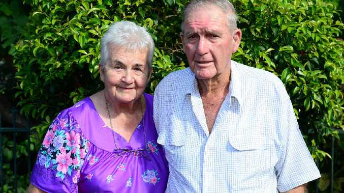 HEALTHY LOVE: Rockhampton's Marge and Bill Seeman believe they owe their lifelong happiness to their 60-year marriage. INSET: Marge and Bill Seeman on their wedding day in 1954.