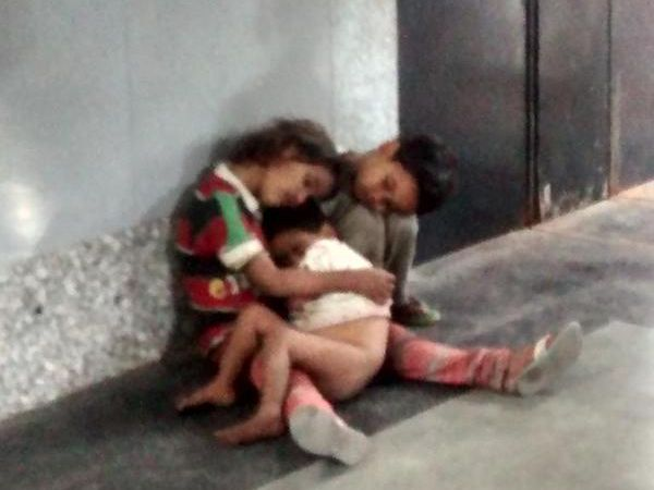 Three children abandoned at India's busiest train station