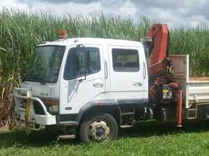 Work truck stolen and abandoned at farm