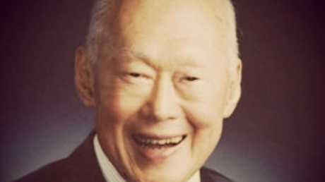 Recently deceased Prime Minister of Singapore, Mr Lee Kuan Yew. Photo: Vernon Chan