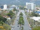 Looking down Fitzroy Street towards Rockhampton CBD from The Range with Mount Archer in the background. Photo: Chris Ison / The Morning Bulletin