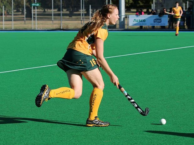 Fraser Coast product Amy Smith playing for Australian Country last year.