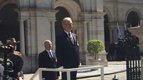 Queensland Governor Paul de Jersey at the official opening of Queensland Parliament with the new Palaszczuk government. * Photo Pamela Frost