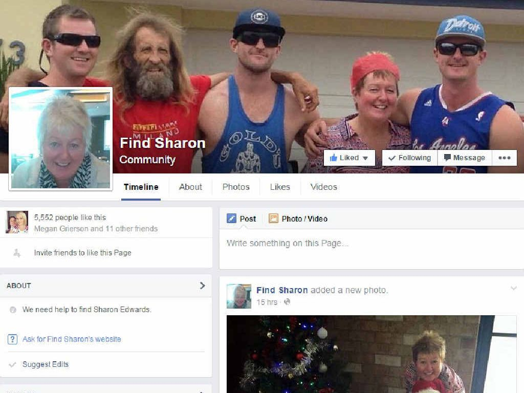ONLINE SEARCH: A screen grab from the Facebook page established by the family of missing Grafton teacher Sharon Edwards.