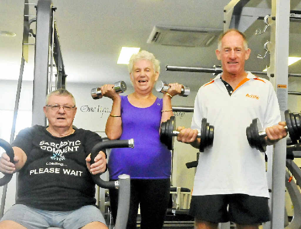 FITNESS FANS: Matt Harrison, Thora Wallace and Norm Josph enjoy exercising and keeping fit.