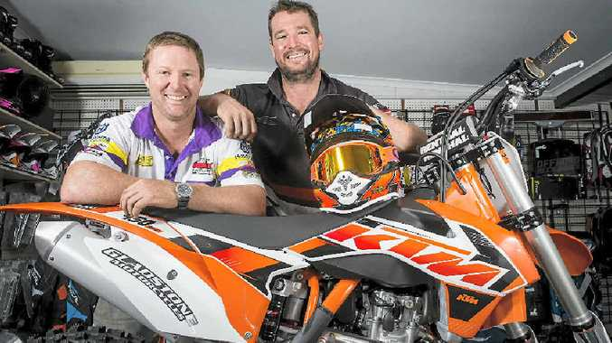 CHALLENGE: Gladstone locals Gavin Ware and Simon Van Someren are hoping to test themselves on the big stage of extreme enduro racing, competing in the Mt Damper Extreme Enduro in New Zealand on March 28.