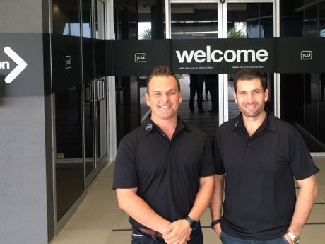 EXCITED: YOUI CEO Danie Matthee (left) and group CEO Howard Aron are excited about plans to build Youi's global headquarters on the Sunshine Coast.