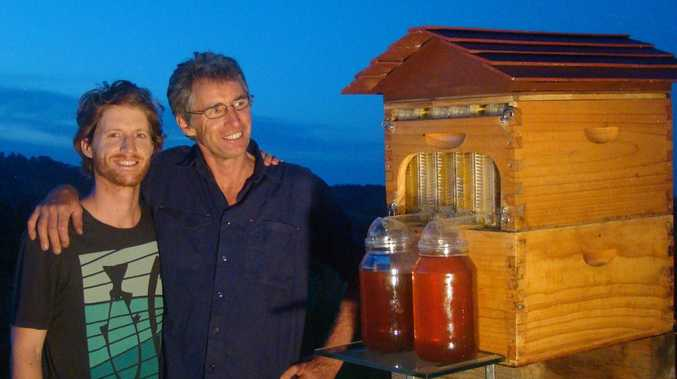 Cedar and Stuart Anderson, co-inventors of the Flow Hive, developed on the Far North Coast New South Wales, Australia. Photo Contributed